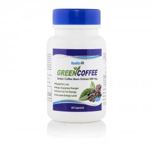 Buy Healthvit Green Coffee Bean Extract - 60 Capsules - Nykaa