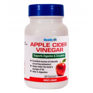 Buy Healthvit Apple Cider Vinegar 60 Capsules - Nykaa