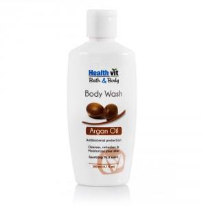 Buy HealthVit Bath & Body Argan Body Wash - Nykaa