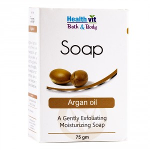 Buy HealthVit Bath & Body Argan Oil Soap - Nykaa
