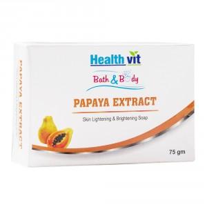 Buy HealthVit Bath & Body Papaya Extract Skin Whitening Soap - Nykaa