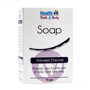 Buy HealthVit Bath & Body Activated Charcoal Soap - Nykaa
