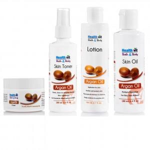 Buy HealthVit Argan Oil Skin Care Kit - Nykaa