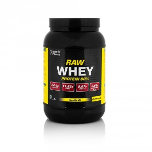 Buy Healthvit Fitness Whey Protein Concentrate 80% Unflavoured - Nykaa