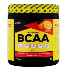 Buy HealthVit Fitness BCAA 6000 Tangy Orange (25 Servings) - Nykaa