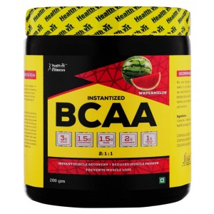 Buy HealthVit Fitness BCAA Powder 6000 (2:1:1) Watermelon Flavour - Nykaa