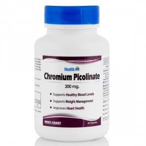 Buy HealthVit Chromium Picolinate 200Mcg 60 Capsules - Nykaa