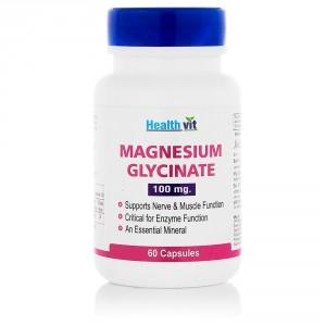 Buy HealthVit Magnesium Glycinate 100Mg 60 Capsules - Nykaa
