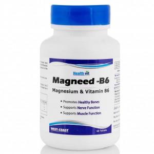 Buy HealthVit Magneed-B6 Magnesium & Vitamin 60 Tablets - Nykaa
