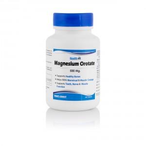 Buy HealthVit Magnesium Orotate 500 Mg 60 Tablets - Nykaa