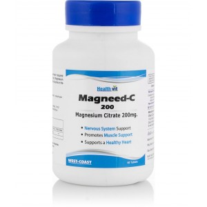 Buy Healthvit Magneed C-200 Magnesium Citrate 200Mg 60 Tablets - Nykaa