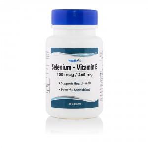 Buy HealthVit Selenium 100Mcg + Vitamin E 400 IU 60 Capsules - Nykaa