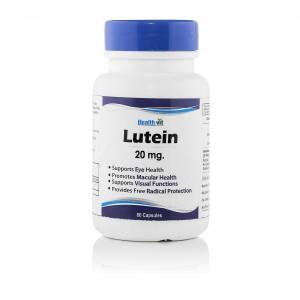 Buy HealthVit Lutein 20Mg 60 Capsules - Nykaa