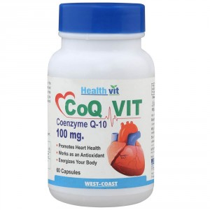 Buy HealthVit Co-Qvit Coenzyme Q-10 100 Mg 60 Capsules - Nykaa