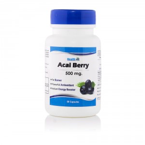 Buy HealthVit Pure Acai Berry 500 Mg 60 Capsules - Nykaa