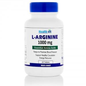Buy HealthVit L-Arginine 1000 Mg 60 Tablets - Nykaa