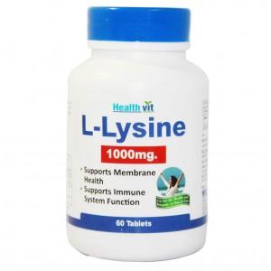 Buy HealthVit L-Lysine 1000 Mg 60 Tablets - Nykaa