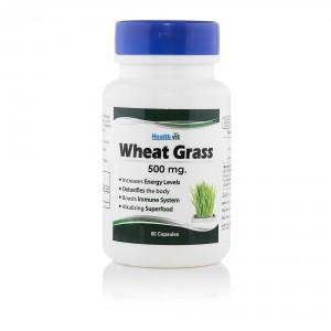 Buy HealthVit 100% Pure Wheat Grass 500 Mg 60 Capsules - Nykaa