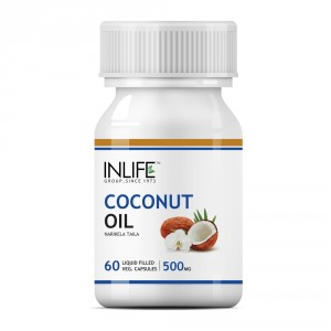 Buy INLIFE Coconut Extra Virgin Cold Pressed Deodorized Oil, 60 Veg Caps For Fat Loss - Nykaa