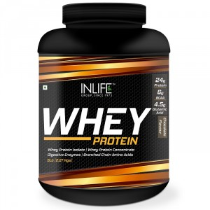 Buy INLIFE Whey Protein Powder 5 lbs (Chocolate Flavor) Body Building Supplement - Nykaa