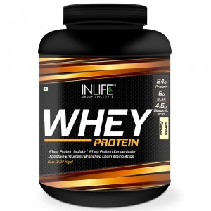Buy INLIFE Whey Protein Powder 5 lbs (Vanilla Flavor) Body Building Supplement - Nykaa