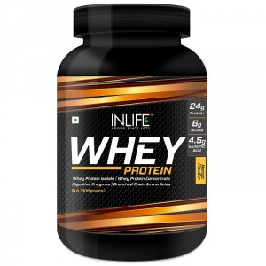 Buy INLIFE Whey Protein Powder 2 lbs (Mango Flavour) Body Building Supplement - Nykaa