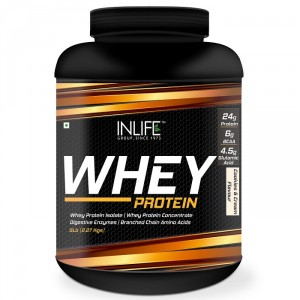 Buy INLIFE Whey Protein Powder 5 lbs (Cookie and Cream Flavor) Body Building Supplement - Nykaa