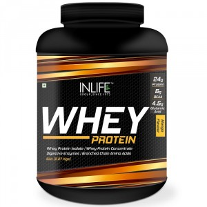 Buy INLIFE Whey Protein Powder 5 lbs (Mango Flavor) Body Building Supplement - Nykaa