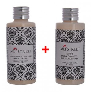 Buy Herbal Imli Street Jasmine Dry & Damaged Hair Cleanser + Jasmine Dry & Damaged Conditioner Combo Pack - Nykaa