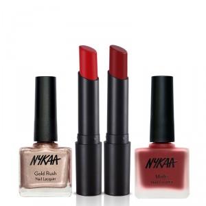 Buy Nykaa Absolute Red Lip & Nail Combo - Nykaa