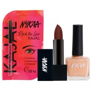 Buy Nykaa Chocolate Lover's Heaven Eyes Lips & Nails Combo - Nykaa