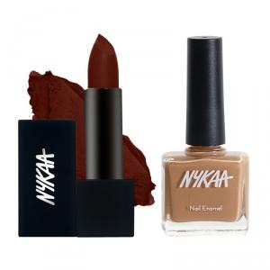 Buy Nykaa Chocolate Over Diamonds Lips & Nails Combo - Nykaa