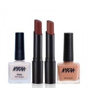 Buy Herbal Nykaa Coffee Date Lip & Nail Combo - Nykaa