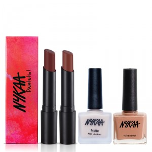 Buy Nykaa Coffee Date Lip & Nail Combo - Nykaa