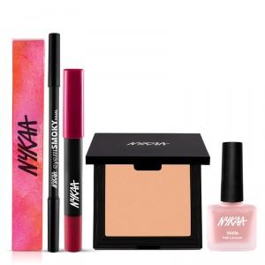 Buy Nykaa Girl Next Door Face Eyes Lips Nail Combo - Nykaa