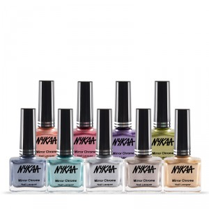 Buy Nykaa Mirror Chrome Nail Lacquer Collection - Nykaa