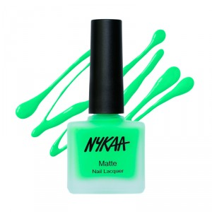 Buy Nykaa Neon Matte Nail Enamel - Key-Lime Slush - Nykaa