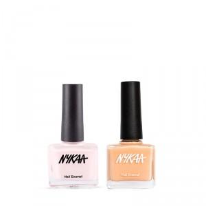 Buy Nykaa Peachy Vibe Nail Enamel Combo - Nykaa