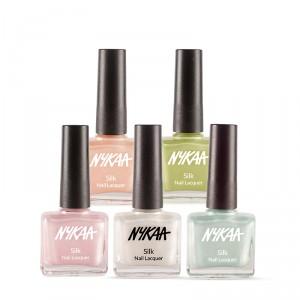 Buy Nykaa Silk Lacquer Nail Enamel Combo - Nykaa