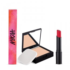 Buy Nykaa SKINgenius Skin Perfecting & Hydrating Compact - Rose Beige 02 + Nykaa Paintstix - Tender Rose 05 Combo - Nykaa