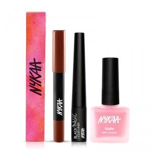 Buy Nykaa The Perfect Me Lips Eyes Nails Combo - Nykaa