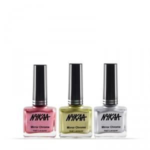 Buy NykaaMirrorChromeNail Lacquer Best of 3 Combo 3 - Nykaa