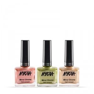 Buy NykaaMirrorChromeNail Lacquer Best of 3 Combo - Nykaa