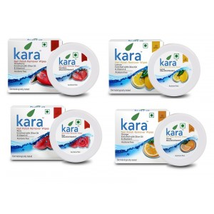 Buy Kara Nail Polish Remover Super Saver Pack of 4 (Orange, Rose, Lemon & Strawberry) - Nykaa