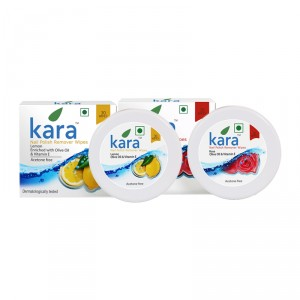 Buy Kara Nail Polish Remover Wipes Combo - Rose & Lemon - Nykaa