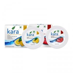 Buy Kara Nail Polish Remover Wipes Combo - Lemon & Strawberry - Nykaa