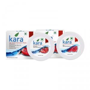 Buy Kara Nail Polish Remover Wipes Combo - Rose & Strawberry - Nykaa
