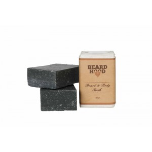 Buy Beardhood Beard & Body Bath Soap Activated Charcoal - Nykaa