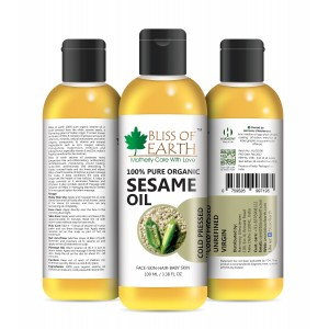 Buy Bliss Of Earth Organic Sesame Oil - Nykaa