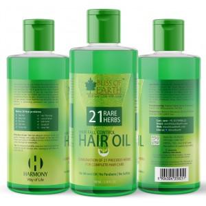 Buy Bliss Of Earth Hair Fall Control Hair Oil With 21 Rare Herbs - Nykaa